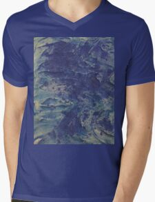 swirling waves in the deep sea Mens V-Neck T-Shirt