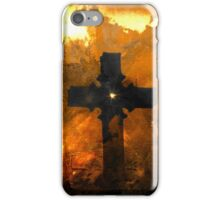 On A Hill Far Away Stood An Old Rugged Cross iPhone Case/Skin