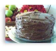 Three-Layer Chocolate Cake Canvas Print