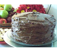 Three-Layer Chocolate Cake Photographic Print