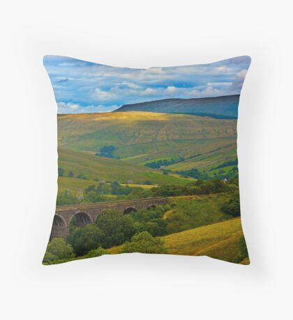 Above the Viaduct - Dentdale Throw Pillow