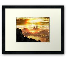 Breaking Dawn over New Antartica Framed Print