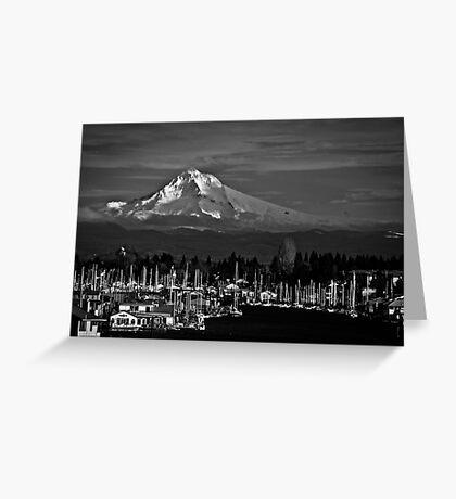 Mt. Hood Over Hayden Island 01 Greeting Card