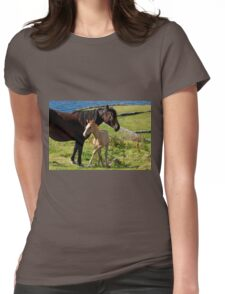 Horses In Landscape Womens Fitted T-Shirt