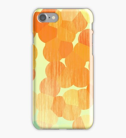 Orange and Yellow Stained Bubbles iPhone Case/Skin