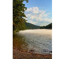 Mid-summer Foggy River Photographic Print