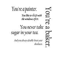 Peeta and Katniss Photographic Print