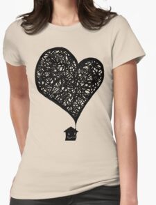 Plumes of Love V2 Womens Fitted T-Shirt