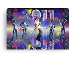 2011 Happy New Year Canvas Print
