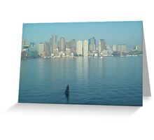 Arriving in Boston Greeting Card