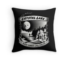Camp Crystal Lake: Where Summer Lives Forever Throw Pillow