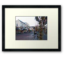 Holiday Shopping in Oak Park Framed Print