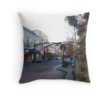 Holiday Shopping in Oak Park Throw Pillow