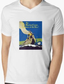 Join The US Marines Corps - Soldiers Of The Sea! Mens V-Neck T-Shirt