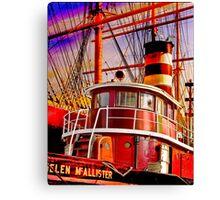 The Tug Boat Helen McAllister Canvas Print