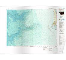 USGS Topo Map Washington Ilwaco 241645 1980 100000 Poster