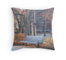 A Seat in Oak Park Throw Pillow