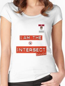 """""""I Am The Intersect"""" - Chuck  Women's Fitted Scoop T-Shirt"""