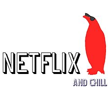 Netflix and Chill Cool Penguin funny T-shirt by Frankie940