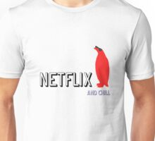 Netflix and Chill Cool Penguin funny T-shirt Unisex T-Shirt