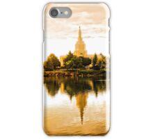 Mormon Temple - Idaho Falls Summer Reflections iPhone Case/Skin