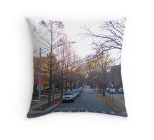 Late Autumn in Oak Park Throw Pillow