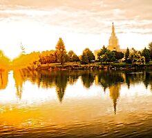 Mormon Temple - Idaho Falls Summer Reflections by IMAGETAKERS