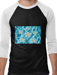 Frangipani flowers Men's Baseball ¾ T-Shirt