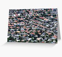 Isometric Houses Greeting Card