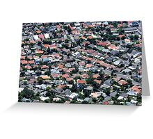 Isometric Houses Greeting Card
