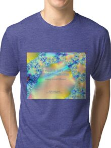 World Is But A Canvas Tri-blend T-Shirt