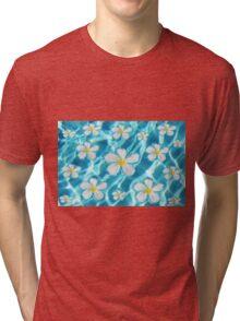 Frangipani flower in the swimming pool Tri-blend T-Shirt