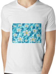 Frangipani flower in the swimming pool Mens V-Neck T-Shirt