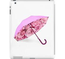 Pink umbrella with roses iPad Case/Skin