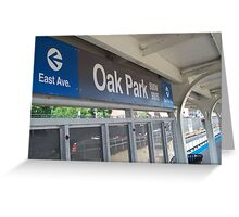 Arriving in Oak Park Greeting Card