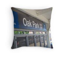 Arriving in Oak Park Throw Pillow