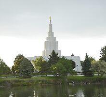 Mormon Temple - Idaho Falls Morning by IMAGETAKERS