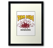 The Dude Bowling T-Shirt Framed Print