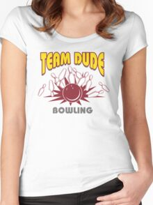 The Dude Bowling T-Shirt Women's Fitted Scoop T-Shirt