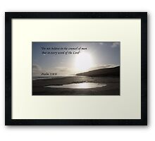 Faith in the Lord Framed Print