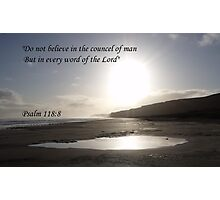 Faith in the Lord Photographic Print