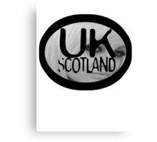 uk scotland card with stephanie by ian rogers Canvas Print