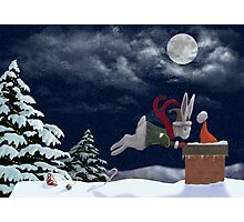 White Rabbit Christmas Photographic Print