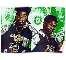 Eric B and rakim are paid in full - www.art-customized.com Poster