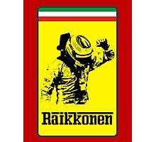 Kimi Raikkonen Ferrari Badge Photographic Print