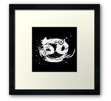 Gonzo Zodiac - Cancer (white) Framed Print