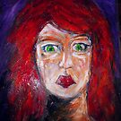 girl with green eyes by Thelma Van Rensburg