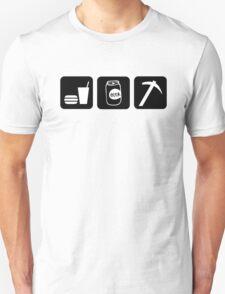 Eat Drink Beer Rockhound Unisex T-Shirt