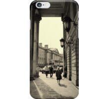 Dublin street scene iPhone Case/Skin