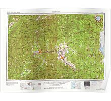 USGS Topo Map Oregon Medford 283342 1958 250000 Poster